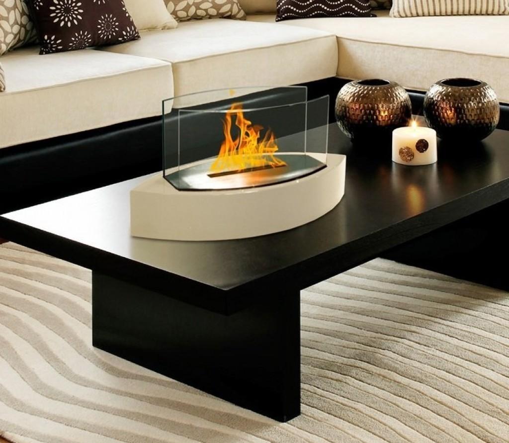 Lexington Tabletop Ethanol Fireplace In Beige Gadgets Matrix