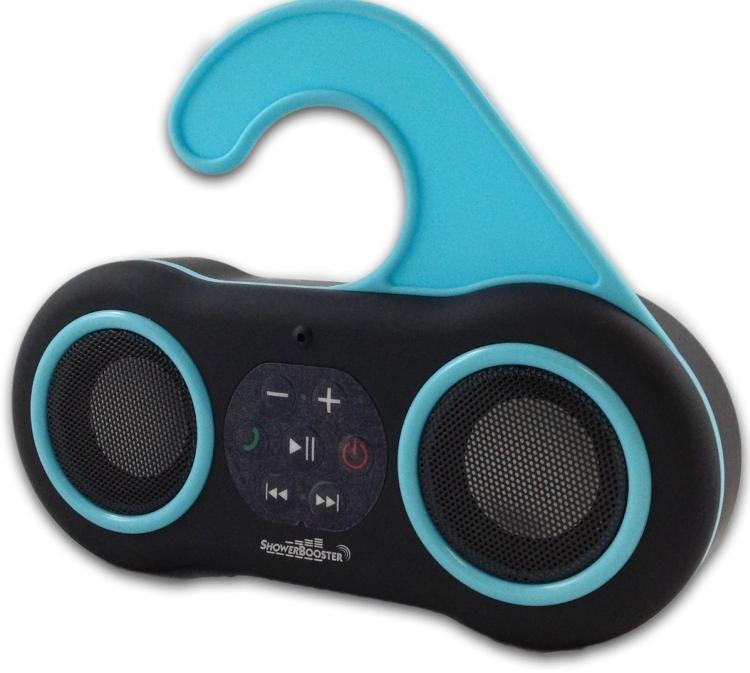 ShowerBooster Bluetooth Wireless Waterproof Shower Speaker andsfree Speaker Phone