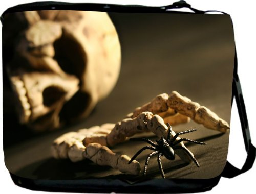 Skull and Hand Bone Messenger Bag