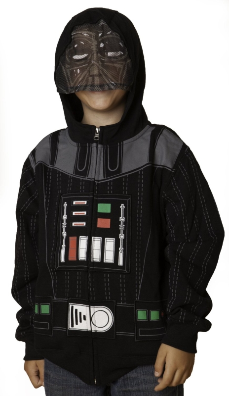 Star Wars Darth Vader Boys Zip Up Costume Hoodie