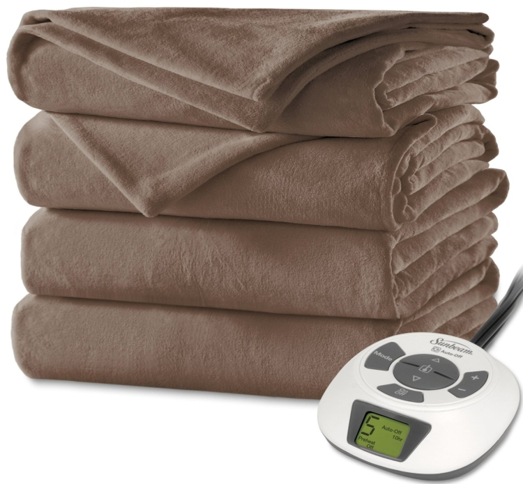 Velvet Plush Heated Blanket