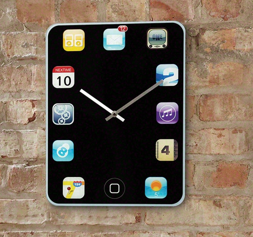 Simplicity Home Decor Iphone Wall Clock Gadgets Matrix