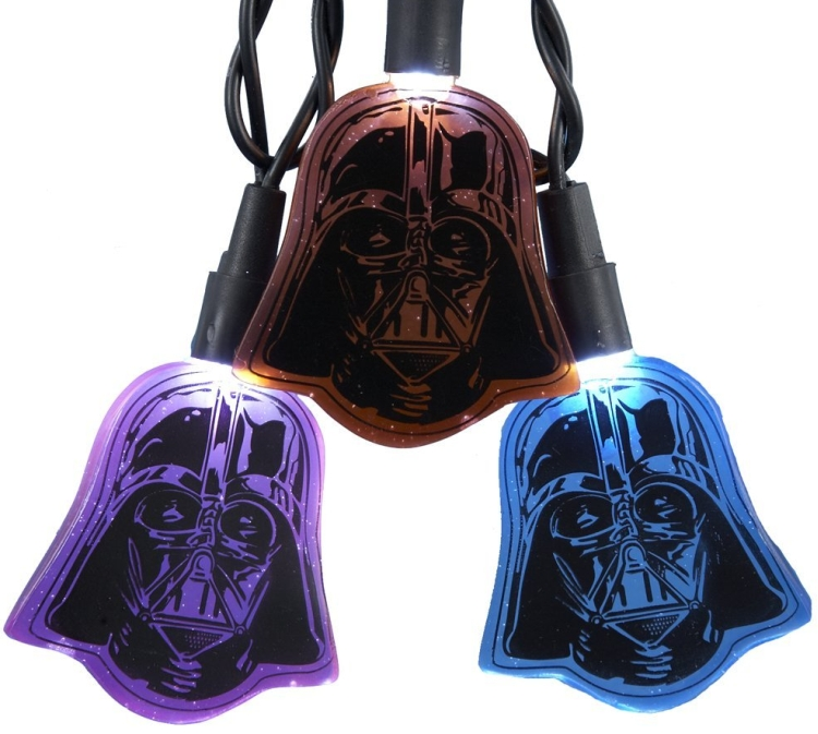 10-Light LED Multi Darth Vader Flat Helmet Light Set