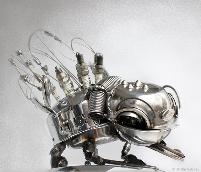 Mechanical insect sculptures