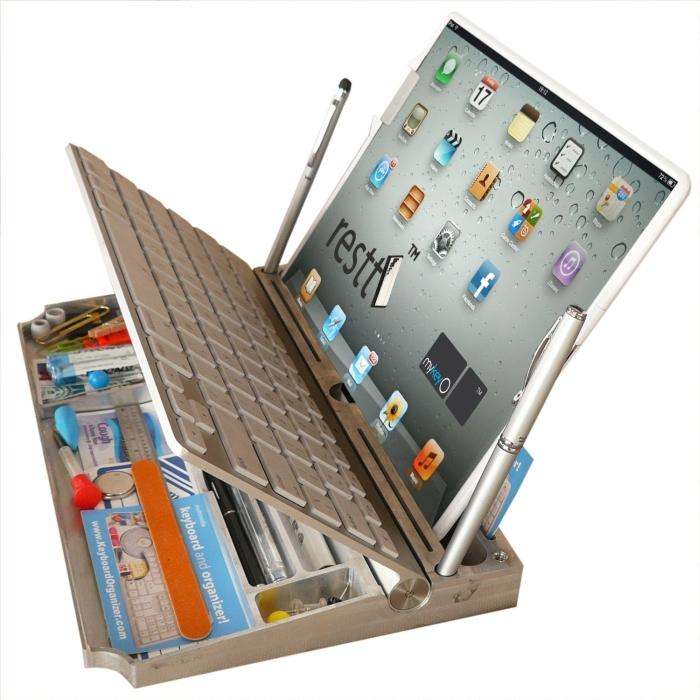 5 in ONE apple wireless keyboard executive Stand&Organizer