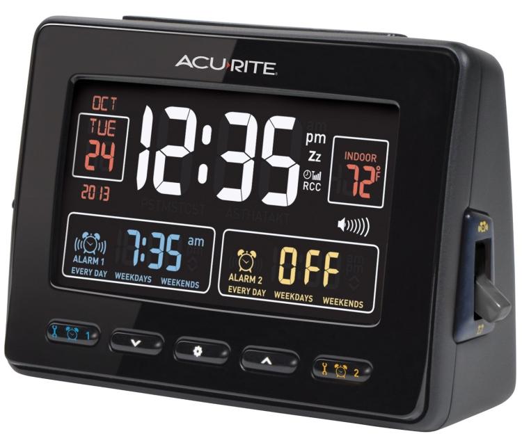 Atomic Dual Alarm Clock with USB Charging