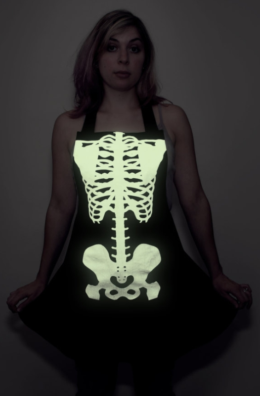Glow-in-the-dark Skeleton Apron