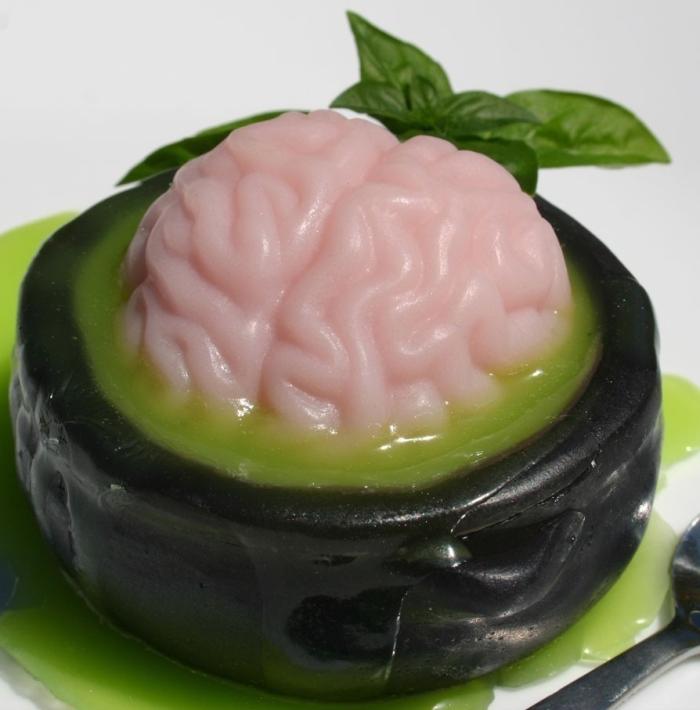 Halloween party soap - brain & cauldron