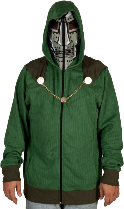 Mad Engine Men's Dr Doom Costume Hoodie