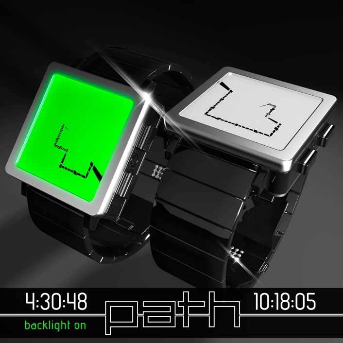 Path LCD watch