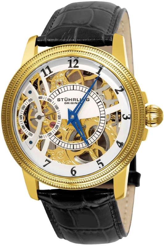 Stuhrling Original Mens Gold Tone Watch