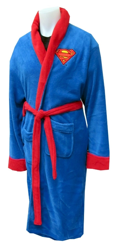 Superman Logo Plush Robe for men