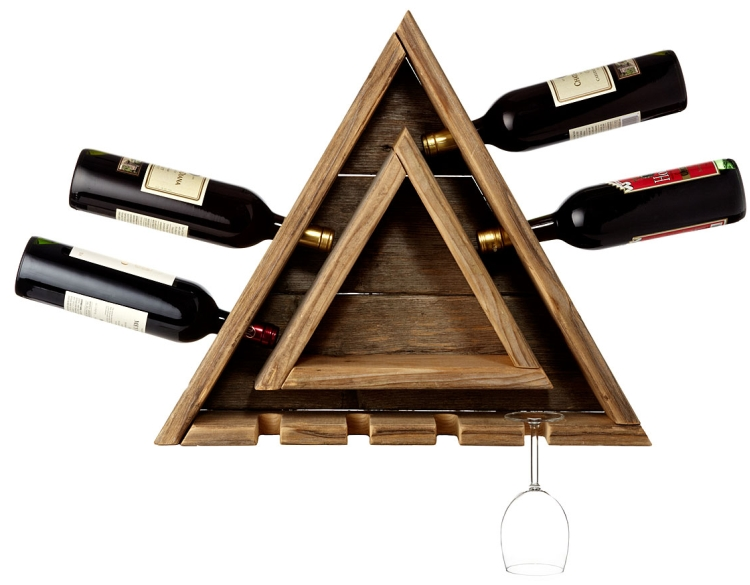TRIANGULAR WINE RACK