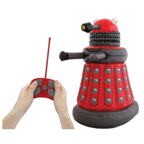 Doctor Who Red Inflatable Remote Control Talking Dalek