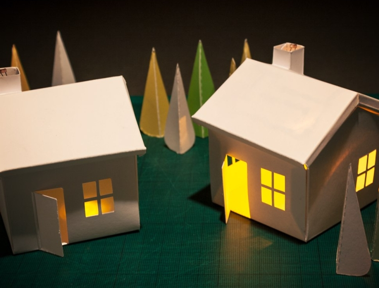 Voltage Village Glowing House Kit