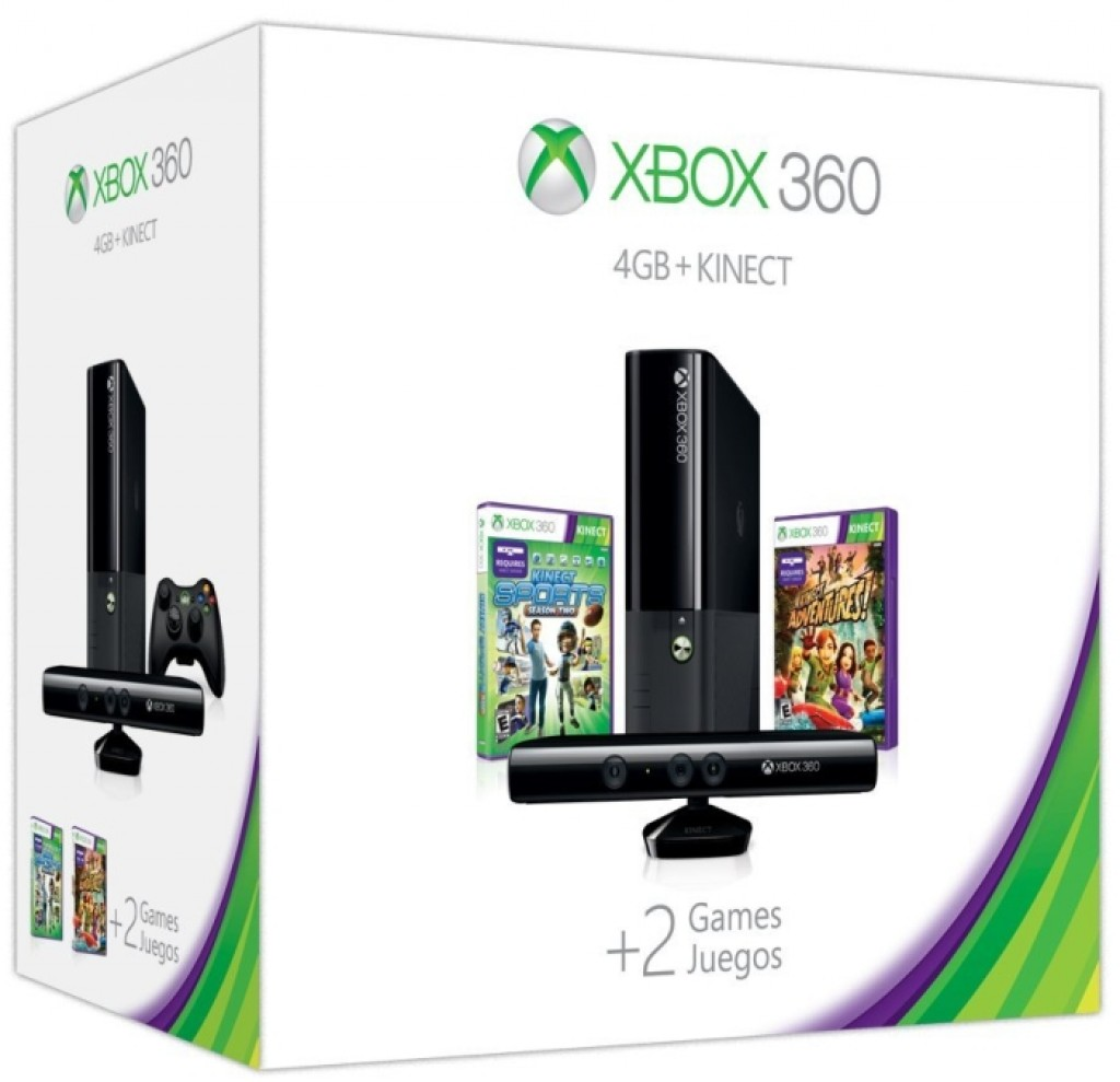 Home Design Games For Xbox 360: Xbox 360 E 4GB Kinect Holiday Value Bundle