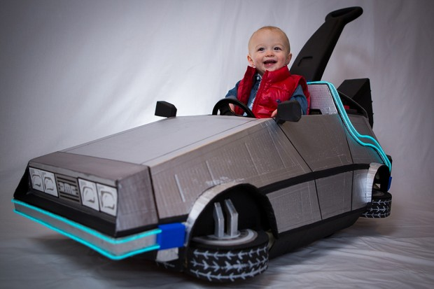 Back to the Future DeLorean Kid's Push Car