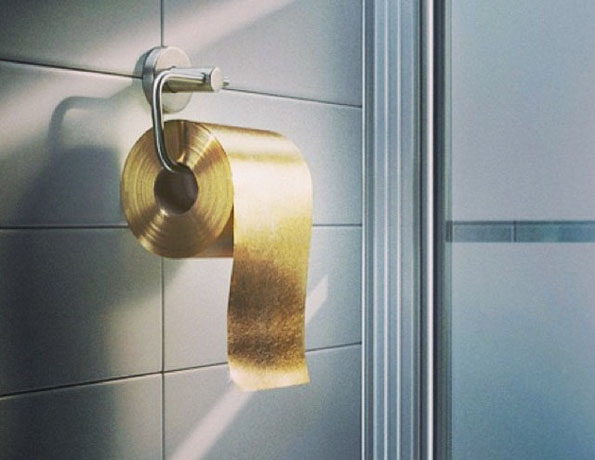 $1 Million Gold Toilet Paper