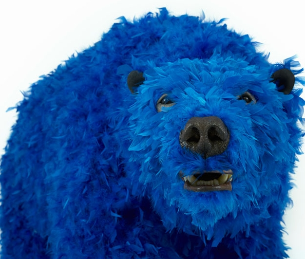 paola-pivis-colorfully-feathered-bears-inhabit-galerie-perrotin-designboom_14