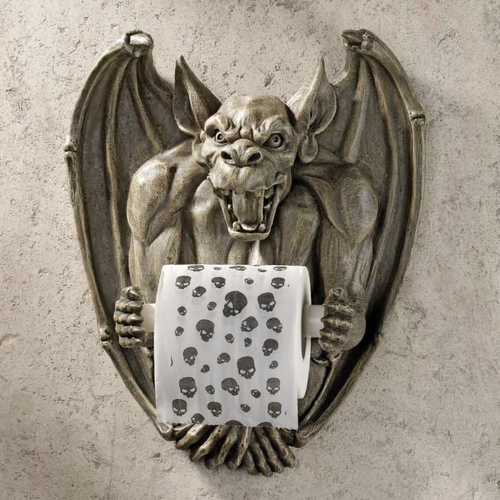 the Gargoyle Bathroom Tissue Holder
