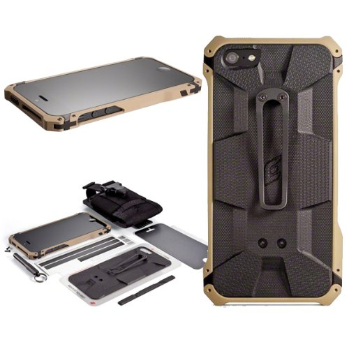 Aluminum Bumper Leather Proof Protective Case Cover for Iphone 5 5s