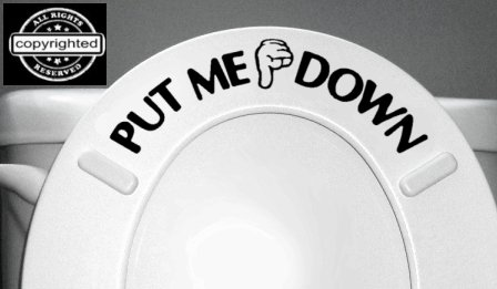 Decal Bathroom Toilet Seat Vinyl Sticker