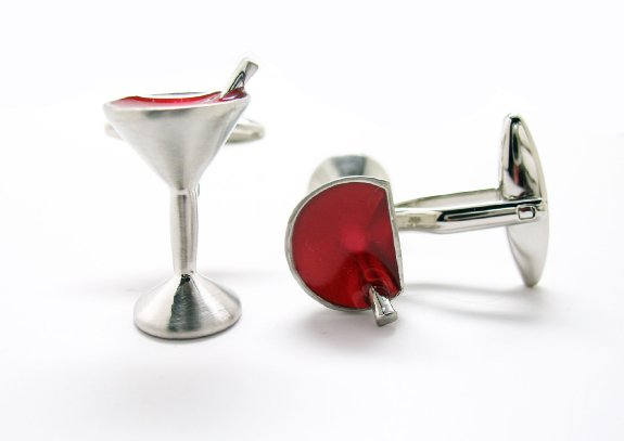 Drink Time Party Let the Good times Roll Cufflinks