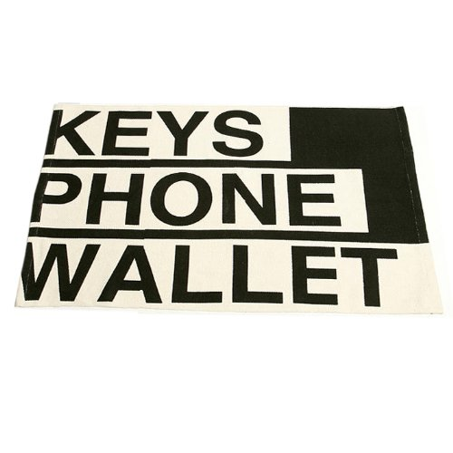 Keys Phone Wallet Fun Doormat Reminder  Floor Mat