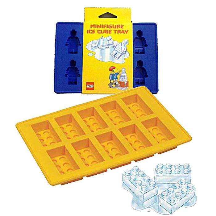 Lego Minifigure Ice Tray and Ice Brick Tray molds
