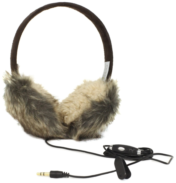 Lobers Women's Animal Fur Headphone Earmuffs