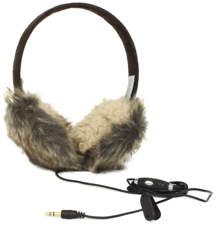 Lobers Women's Animal Fur Headphone Earmuffs