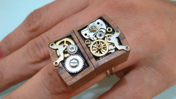Steampunk 16gb USB drive RING