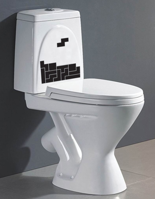 Tetris Toilet Sticker