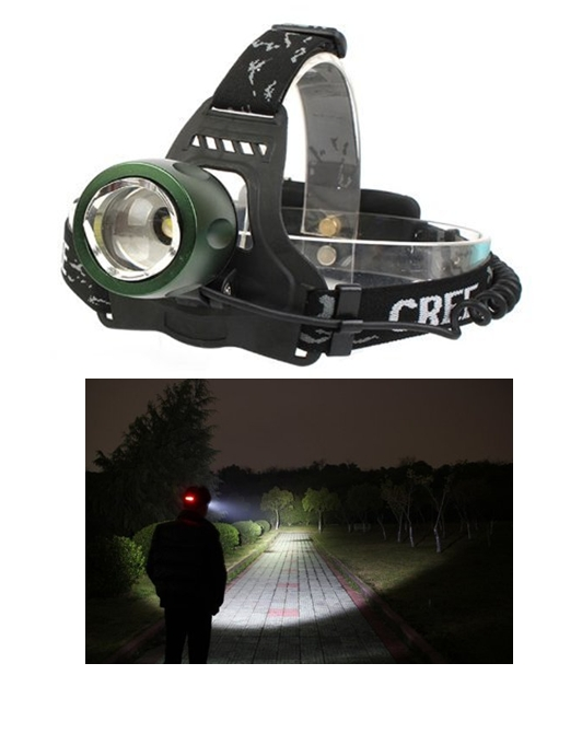 Waterproof 3 Modes Design Zoomable Rotating Headlamp