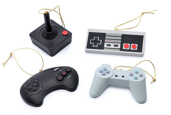 : Classic Video Game Controller Ornament Set
