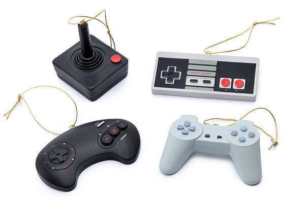 : Classic Video Game Controller Ornament Set