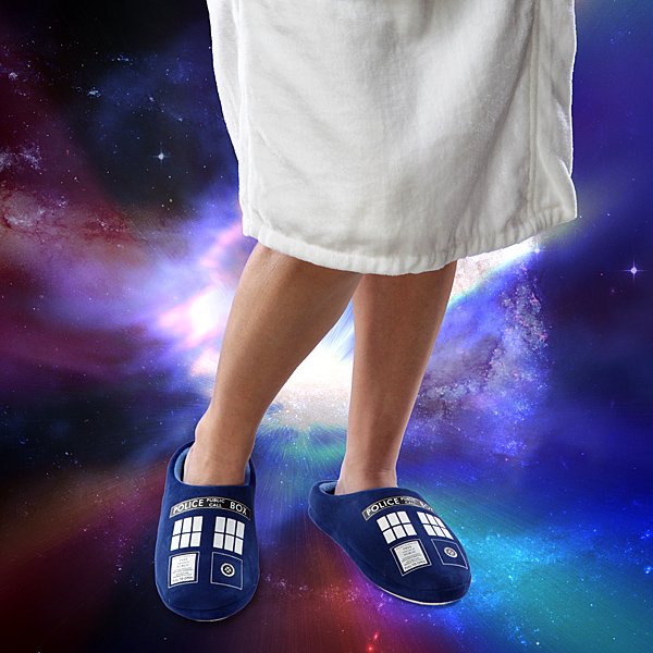 30% Discount: Doctor Who TARDIS Slippers