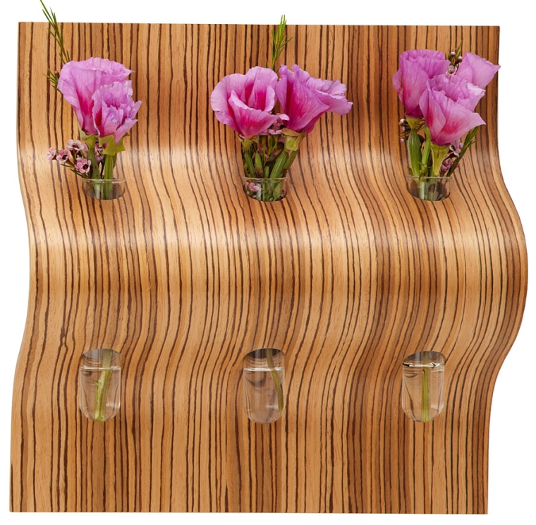 trio bud vase