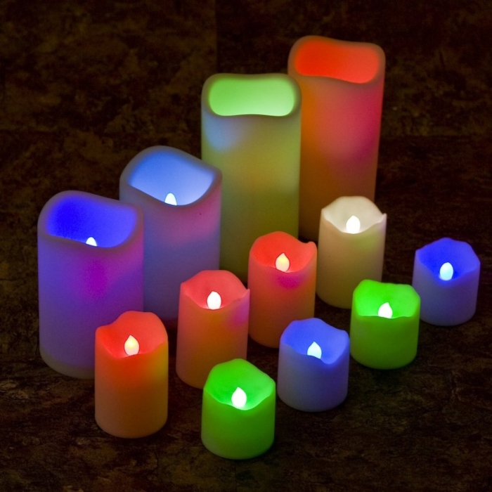 12 Pack Indoor Outdoor Flameless Party Light Candles and Votives