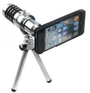 Aluminum Camera Telephoto Lens w Tripod with MegaGear Pouch for Apple iPhone 5