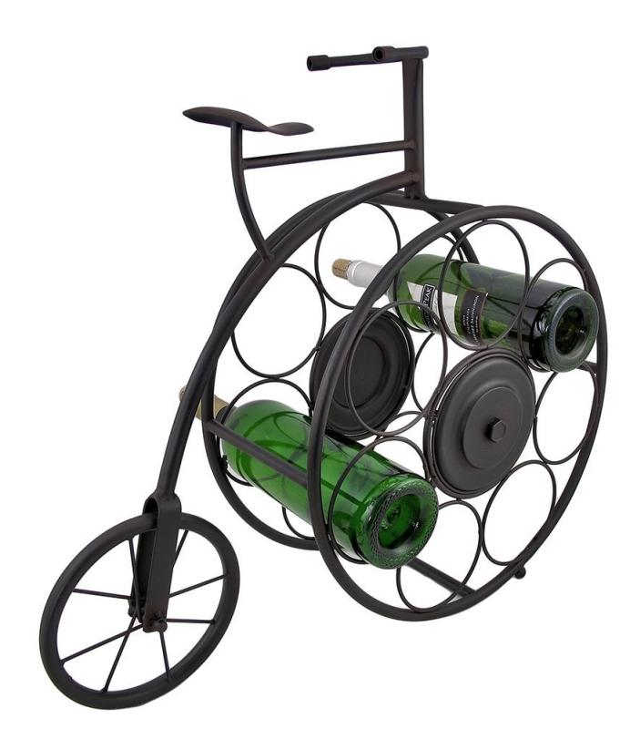 Antique Bicycle Tabletop 7 Bottle Wine Rack