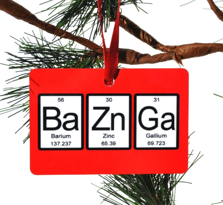Bazinga Periodic Table of Elements Christmas Tree Ornament