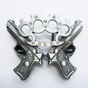 Belt Buckle Knuckle With Guns