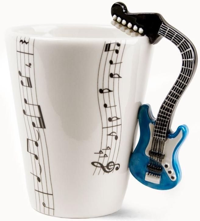Blue Guitar Handmade Coffee Mug