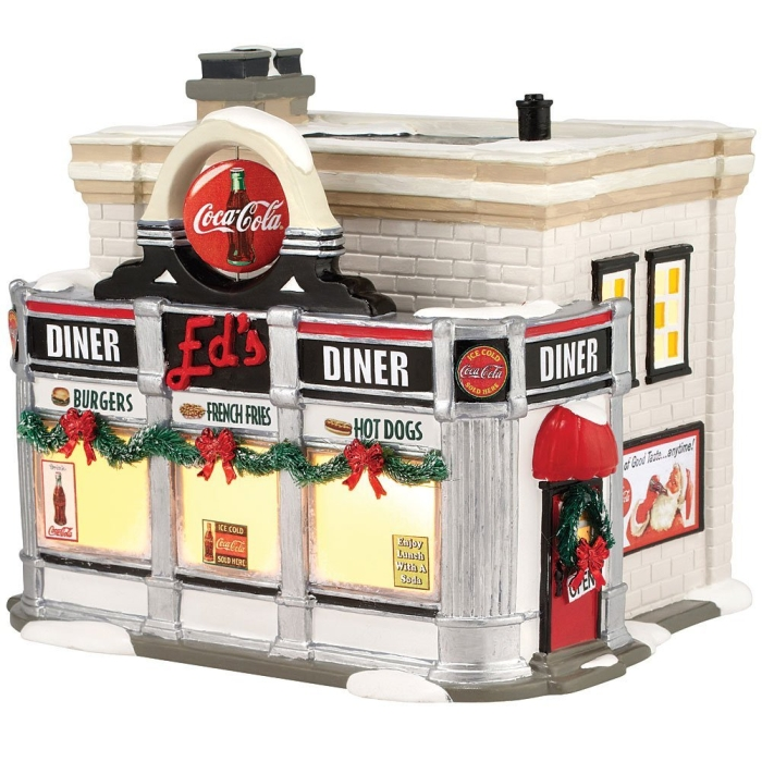 Christmas Diner Village Coca Cola Lighted Building