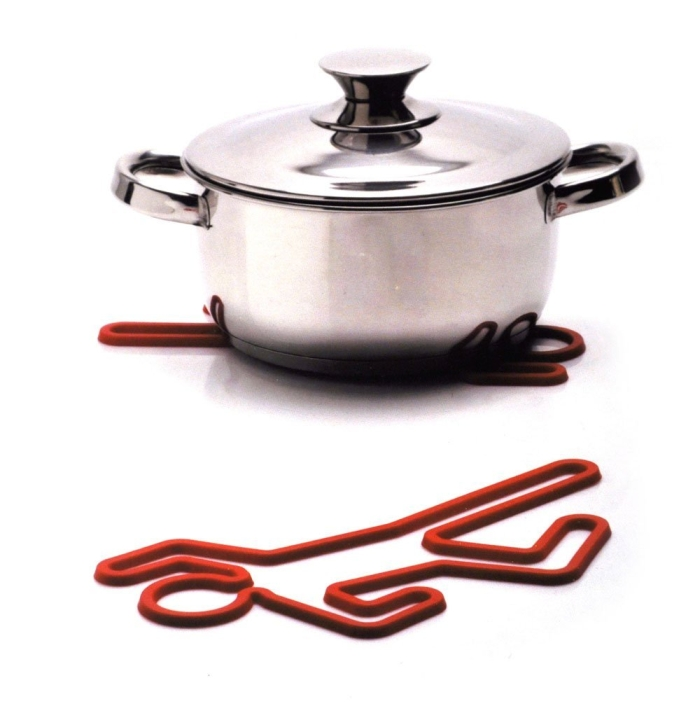 Crime Scene Hot Pot Rack Silicone Red Trivet Hotpot Pan Holder