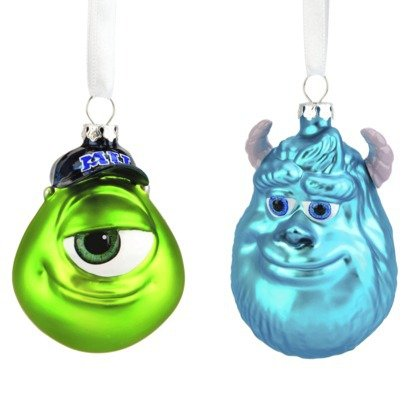 Disney Monsters University 2-Piece Sulley  Mike Ornament Set