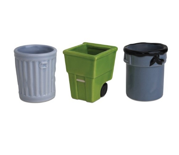 Get Trashed 3-Pack Trash Can Shot Glasses