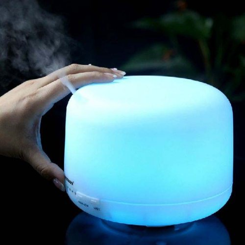 360 Rotation Aroma Diffuser Ultrasonic Humidifier LED Color Changing Ionizer