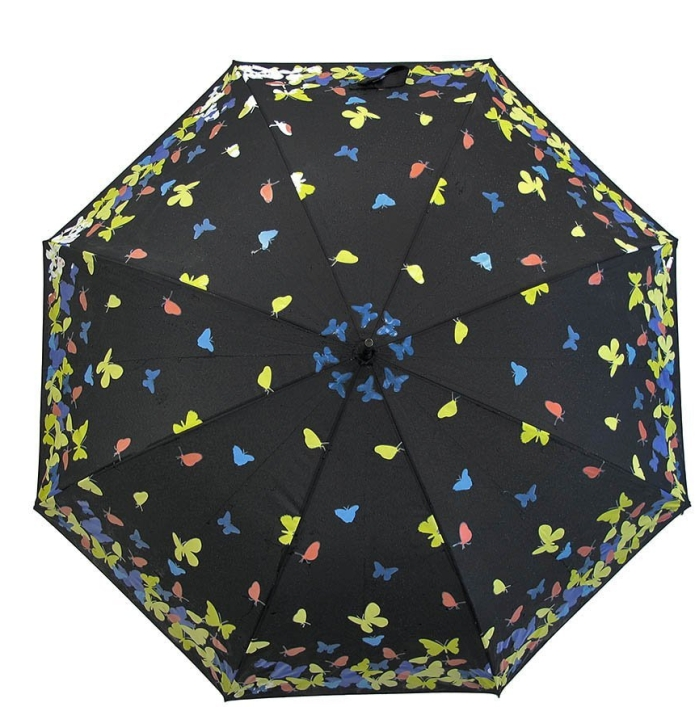 Umbrella with Color Changing Butterflies